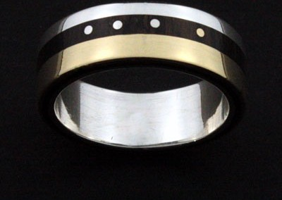 bague 11 en, wedding rings, rings, precious wood, silver ,gold, designer rings, designer wedding rings, Pierre vanherck