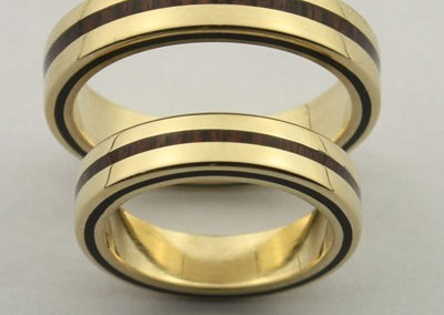 bague 2 en, wedding rings, rings, precious wood, silver ,gold, designer rings, designer wedding rings, Pierre vanherck