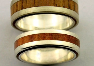 bague 5 en, wedding rings, rings, precious wood, silver ,gold, designer rings, designer wedding rings, Pierre vanherck