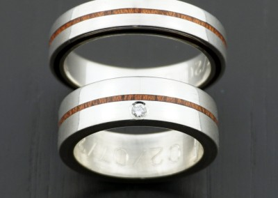 bague 20 en, wedding rings, rings, precious wood, silver ,gold, designer rings, designer wedding rings, Pierre vanherck