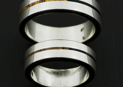 bague 22 en, wedding rings, rings, precious wood, silver ,gold, designer rings, designer wedding rings, Pierre vanherck