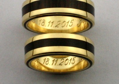 bague 19 en, wedding rings, rings, precious wood, silver ,gold, designer rings, designer wedding rings, Pierre vanherck