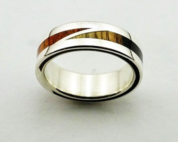 bague 33 en, wedding rings, rings, precious wood, silver ,gold, designer rings, designer wedding rings, Pierre vanherck