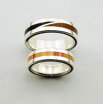 wedding rings, rings, precious wood, silver ,gold, designer rings, designer wedding rings, Pierre vanherck
