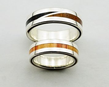 bague 35 en, wedding rings, rings, precious wood, silver ,gold, designer rings, designer wedding rings, Pierre vanherck