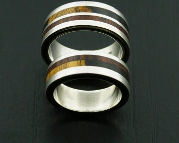bague 44 en, wedding rings, rings, precious wood, silver ,gold, designer rings, designer wedding rings, Pierre vanherck