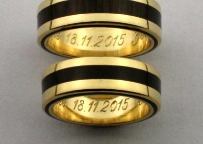 bague 19 en, wedding rings, rings, precious wood, silver ,gold, designer rings, designer wedding rings, Pierre vanherck